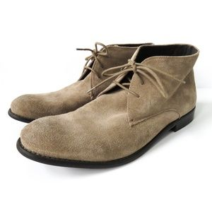 John Varvatos Mens Suede Chukka Boots Tan 11.5
